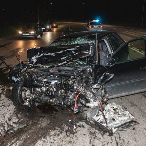 """BMW ir """"Audi"""" avarija Kaune  © Laimio Steponavičiaus nuotr."""