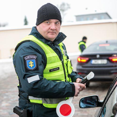 """Policijos reidas """"Švarus vairuotojas""""  © Vilmanto Raupelio nuotr."""