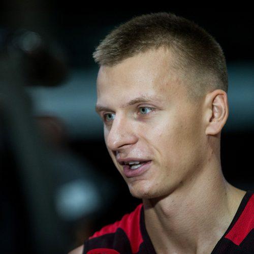 """Vilniaus """"Ryto"""" krepšininkų treniruotė  © Pauliaus Peleckio/Fotobankas nuotr."""