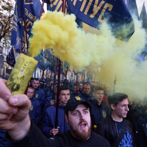 Nacionalistų eitynės Kijeve  © Scanpix nuotr.