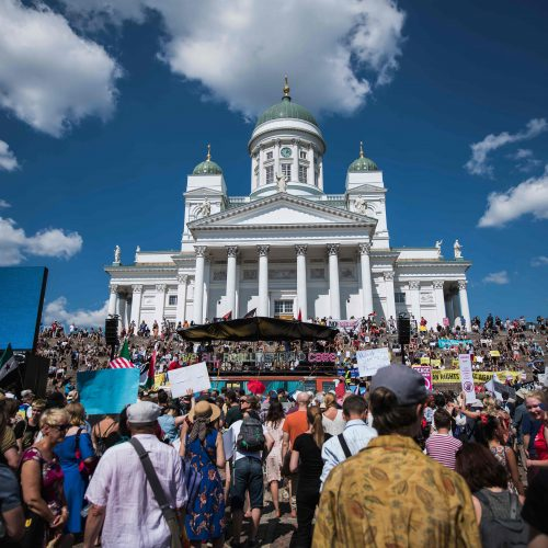 Helsinkyje – protestai prieš D. Trumpą ir V. Putiną  © Scanpix nuotr.