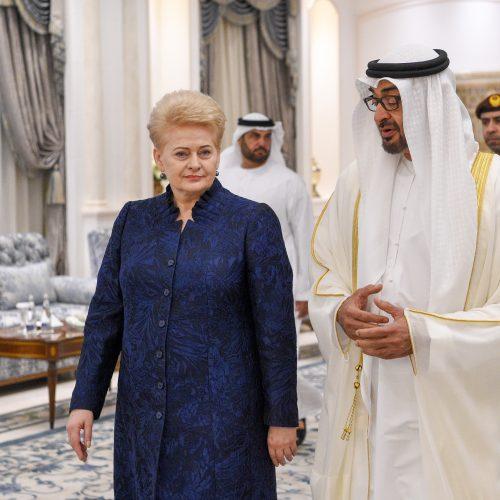 D. Grybauskaitė vieši Jungtiniuose Arabų Emyratuose