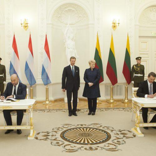 Prezidentė susitiko su Liuksemburgo didžiuoju hercogu