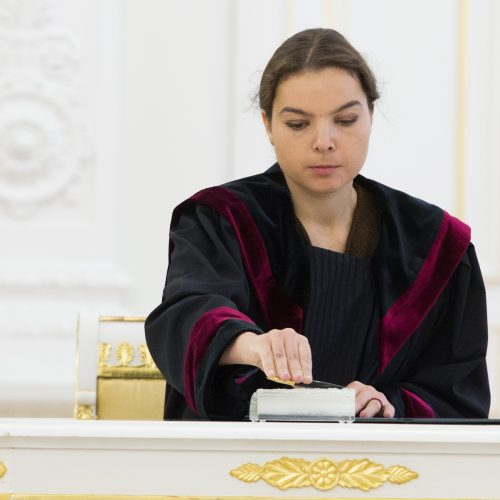 Prezidentūroje prisiekė nauji teisėjai  © V. Skaraičio / BFL nuotr.