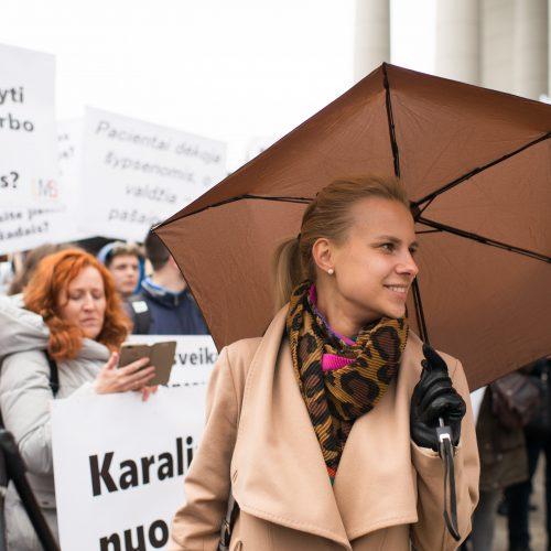 Medikų mitingas prie Seimo  © V. Skaraičio / BFL nuotr.