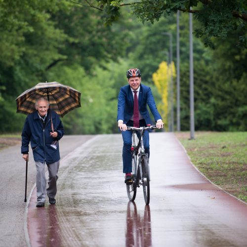 Palei Nerį – naujas dviračių takas