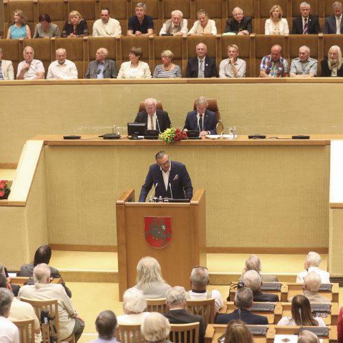 Seimas paminėjo Sąjūdžio trisdešimtmetį  © M. Morkevičiaus / ELTOS nuotr.
