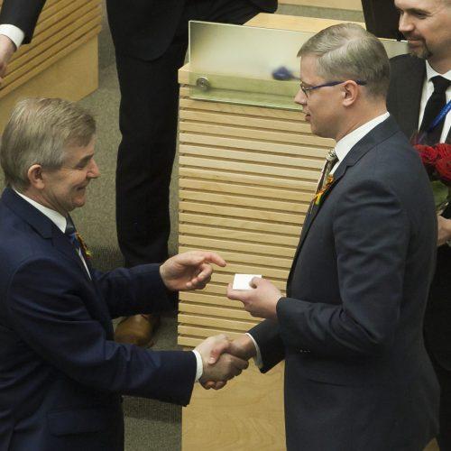 Nauji Seimo nariai – O. Valiukevičiūtė ir A. Kupčinskas  © Dainiaus Labučio (ELTA) nuotr.