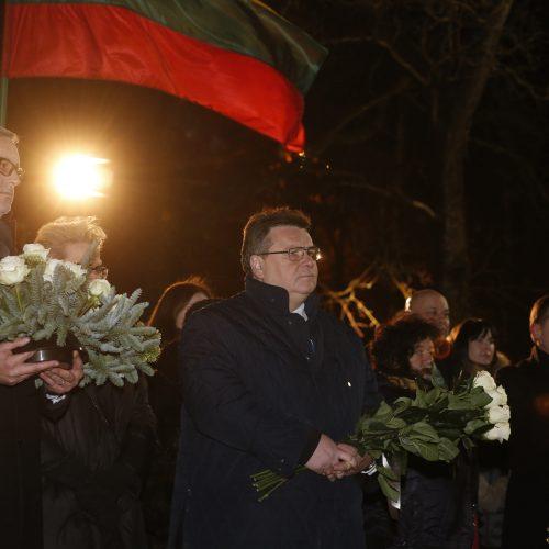 Vilniuje suliepsnojo atminimo laužai  © V. Skaraičio(BFL), M. Morkevičiaus (ELTA)  nuotr.