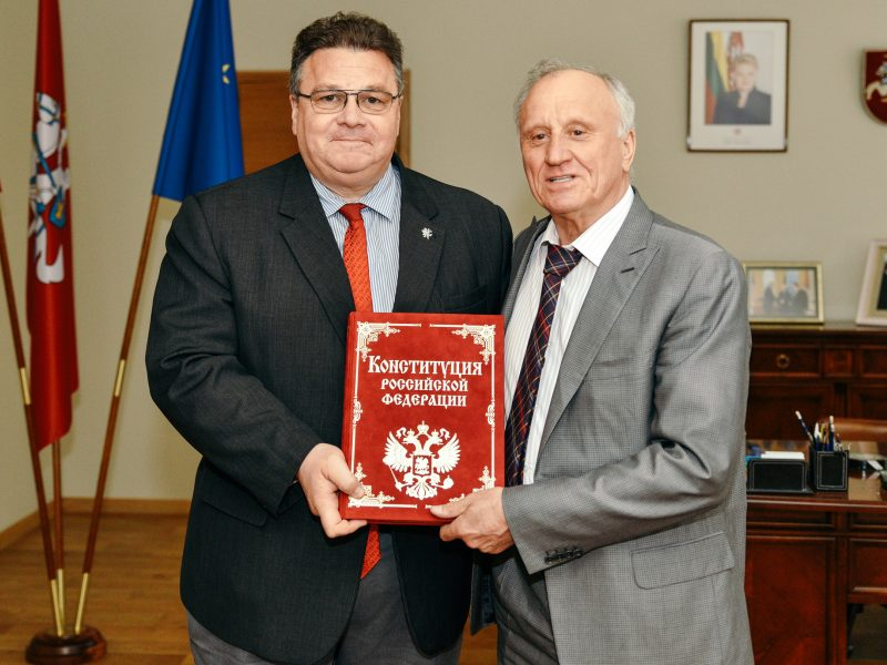 L. Linkevičius su B. Jelcino bendražygiu aptarė santykius su Rusija