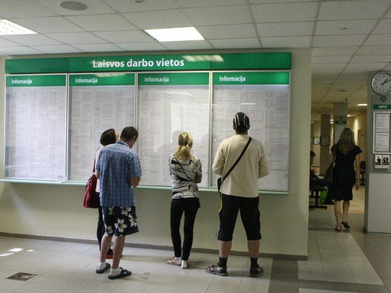 Kauno apskrityje per spalį sumažėjo registruotų bedarbių
