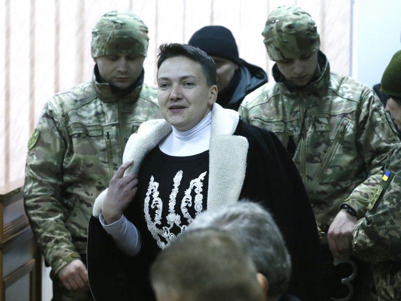 Buvusi Ukrainos pilotė N. Savčenko kalėjime paskelbė bado streiką