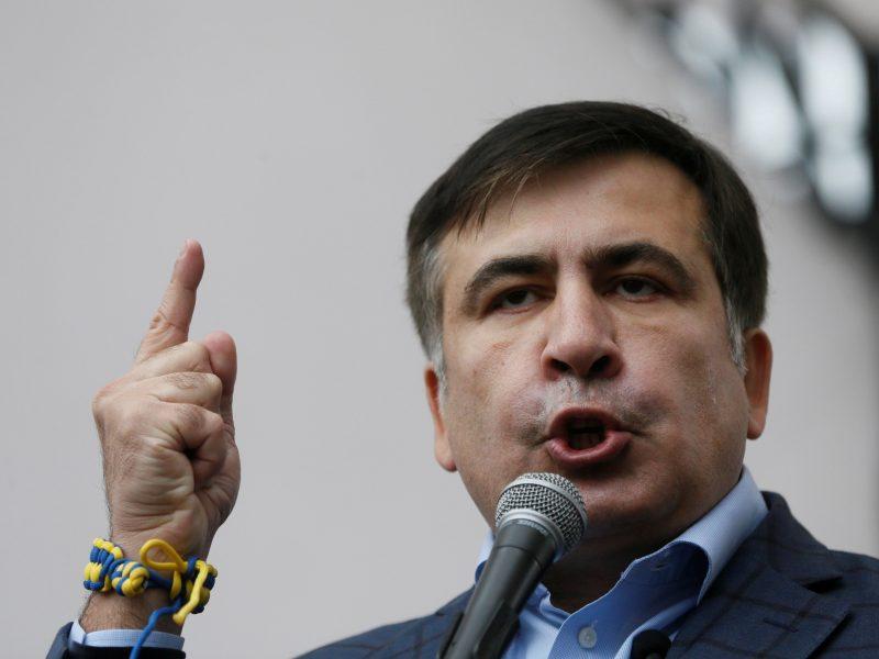 M. Saakašvilis pavadino Ukrainos prezidentą bailiu