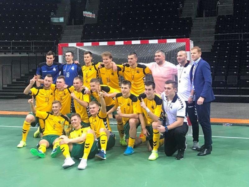 Lietuvos salės futbolo rinktinė triumfavo Baltijos taurės turnyre