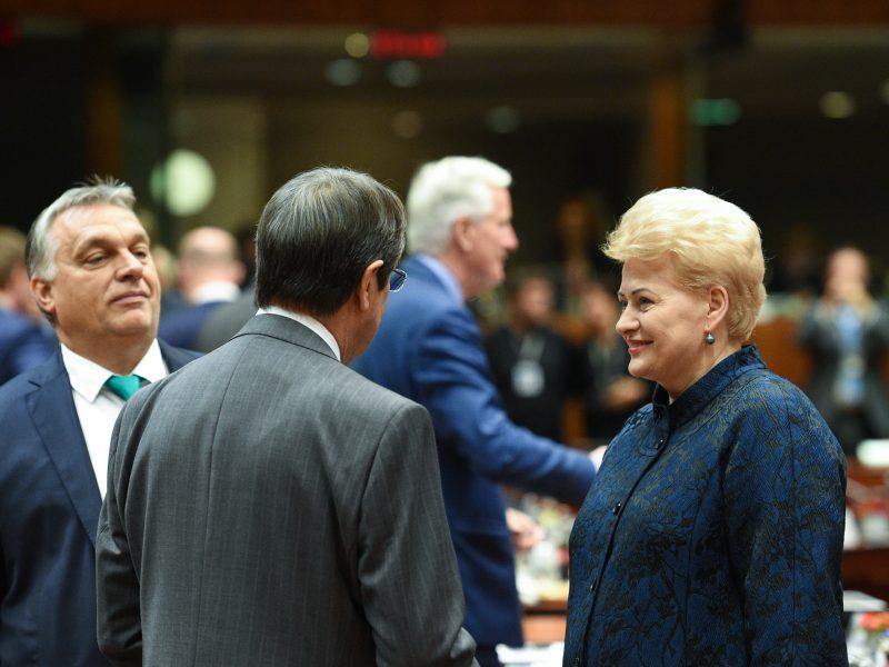 Prezidentė susitiko su ES vadovais