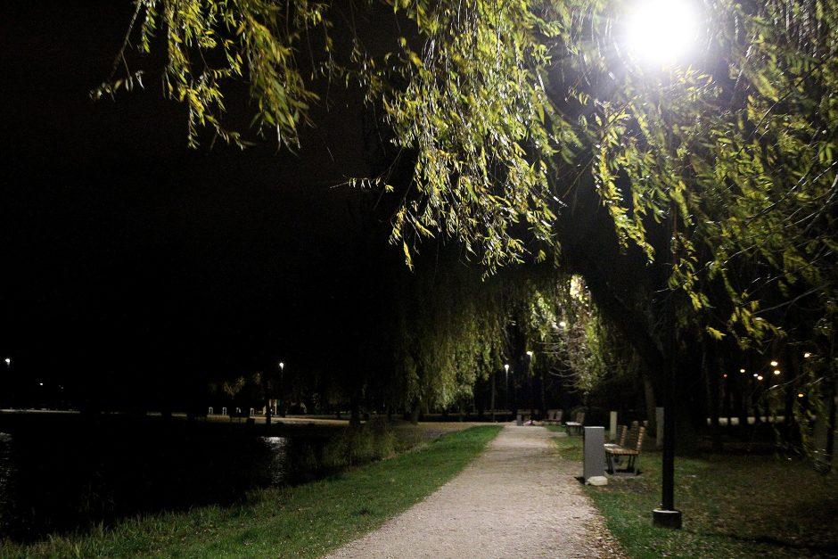 Kalniečių parke – naujas LED apšvietimas
