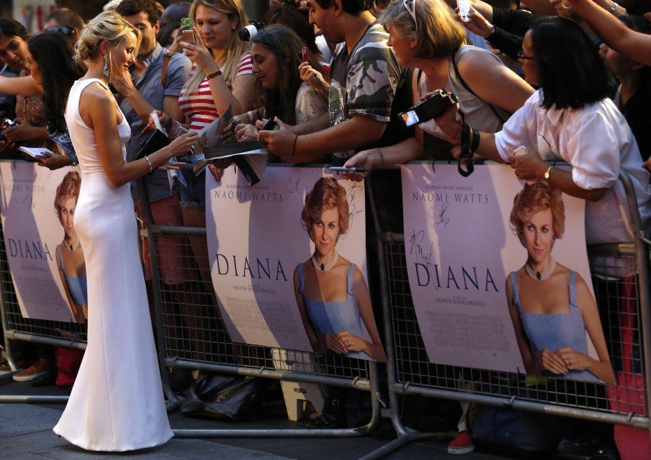 Londone vyksta filmo apie princesę Dianą premjera