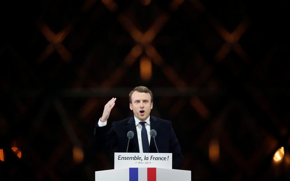 E. Macronas išrinktas Prancūzijos prezidentu