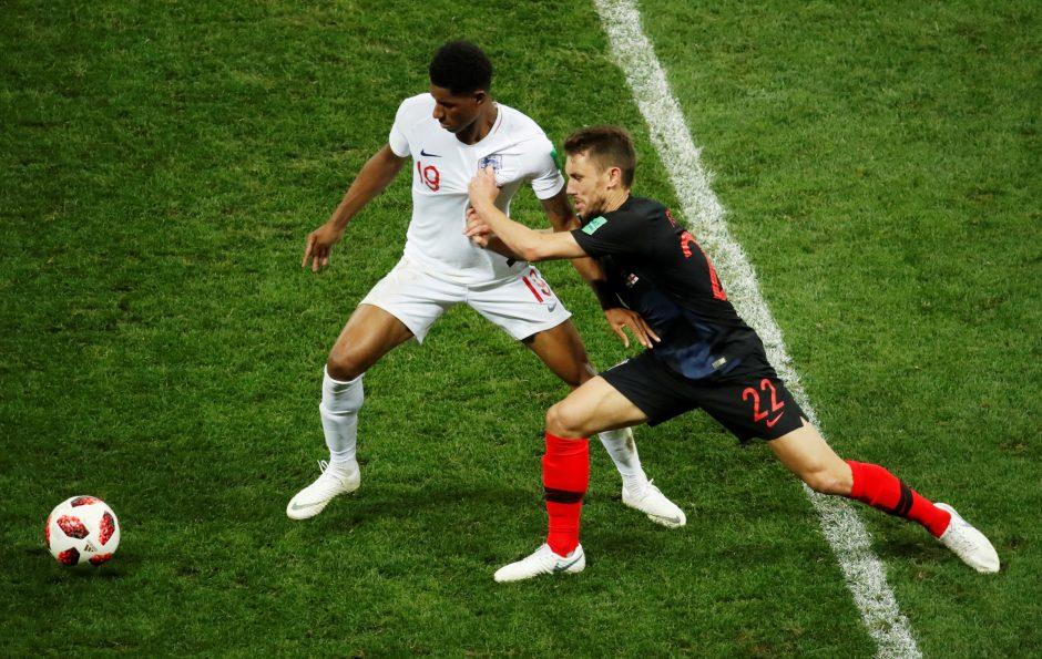 Pasaulio futbolo čempionato pusfinalis: Kroatija - Anglija 2:1