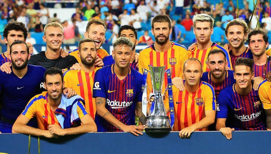 """""""Real"""" ir """"Barcelona"""" pirmą kartą per 26 metus susitiko draugiškose rungtynėse"""