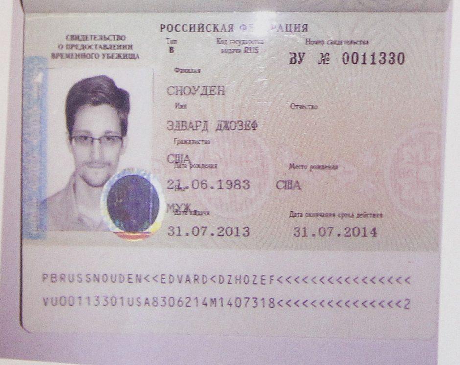 JAV paslapčių viešintojas E.Snowdenas – tikras XXI amžiaus šnipas