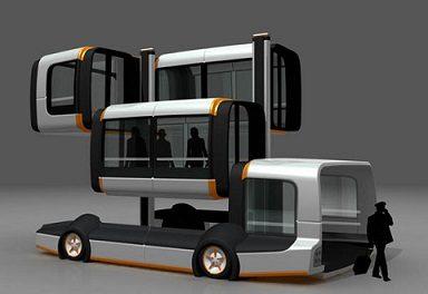 Keleivinio transporto ateitis - daugiasekcijinis autobusas