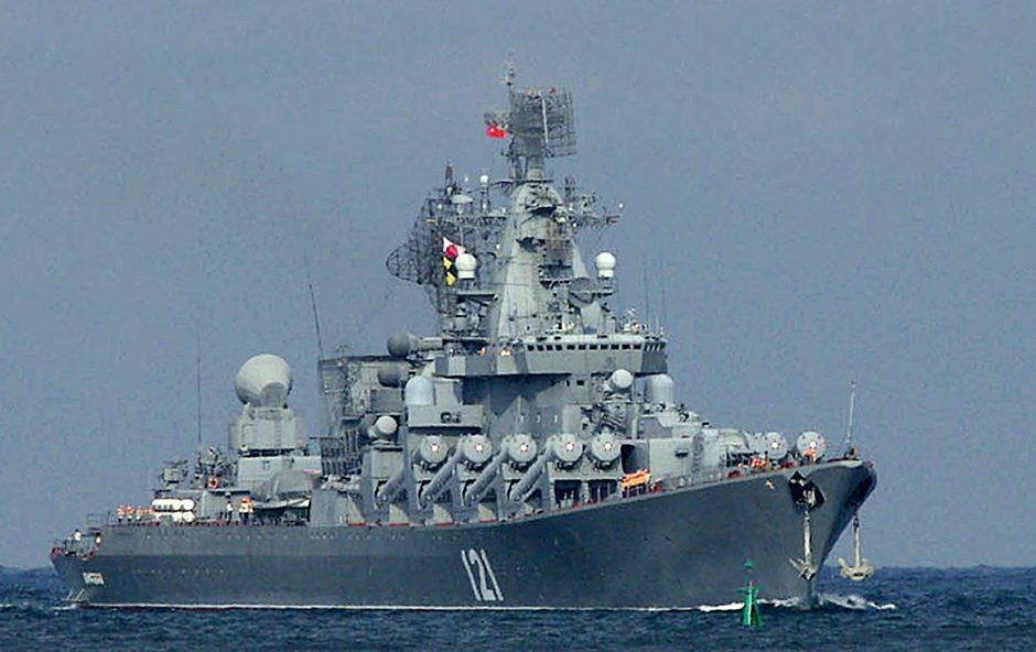 Rusija pasiųs du karo laivus į Viduržemio jūros rytinę dalį