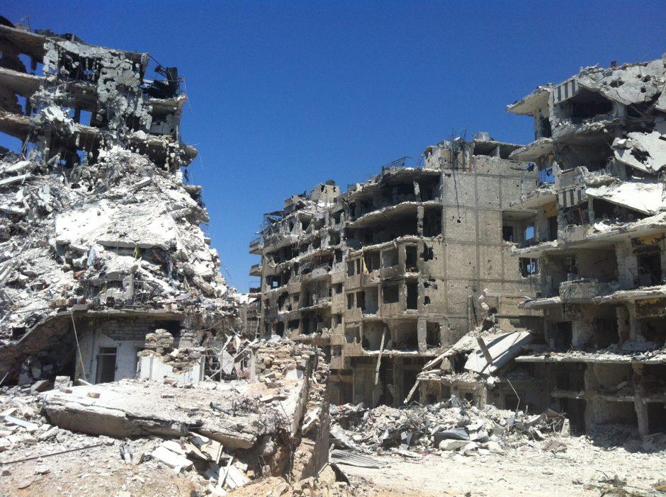 Numanomo Sirijos cheminių ginklų panaudojimo vietoje vyksta įnirtingi mūšiai