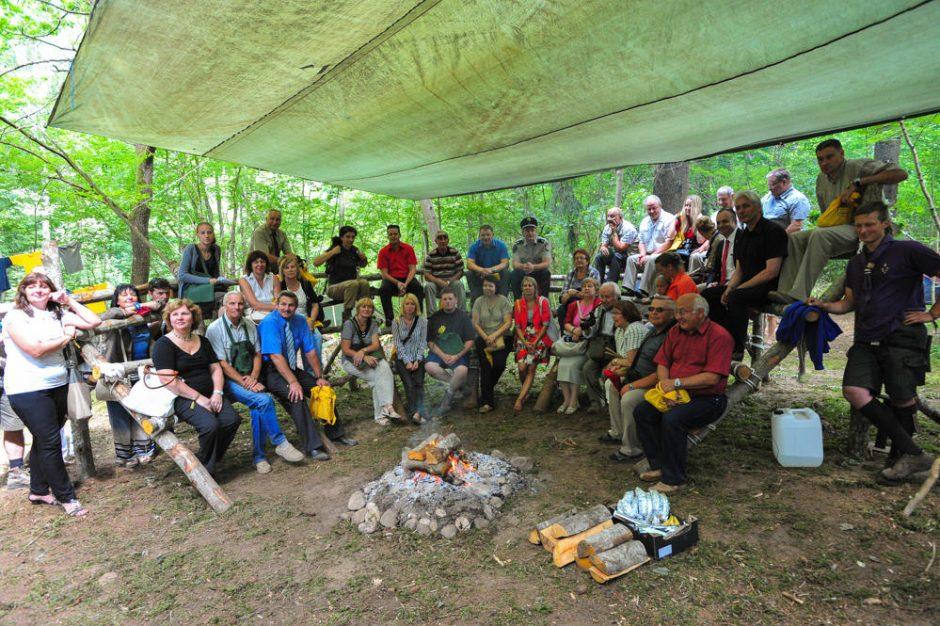 Skautų jubiliejinė stovykla Telšiuose stebino svečius