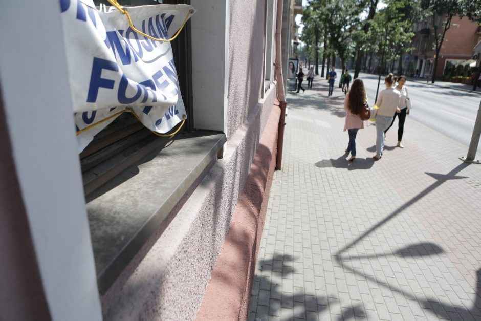 Klaipėdos centre išnuomoti patalpas – sudėtinga