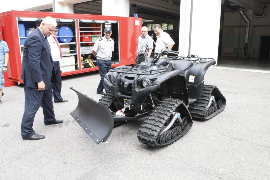 Uostamiesčio ugniagesiams – nauja technika
