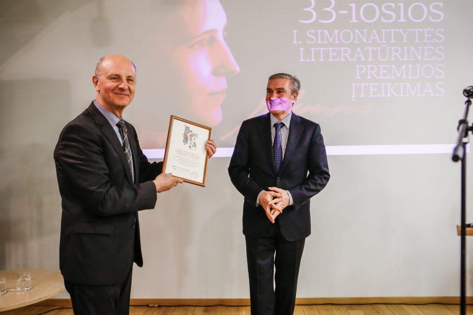 I.Simonaitytės premija įteikta Domui Kaunui