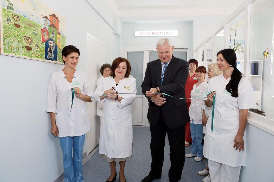 Uostamiesčio vaikų ligoninėje – nauja operacinė
