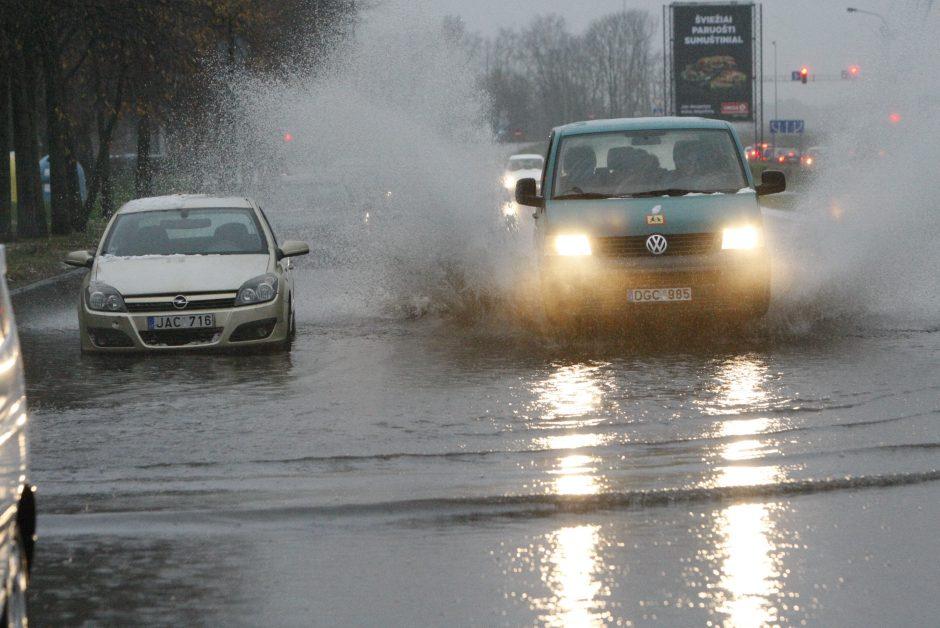 Potvynis Klaipėdoje 2017