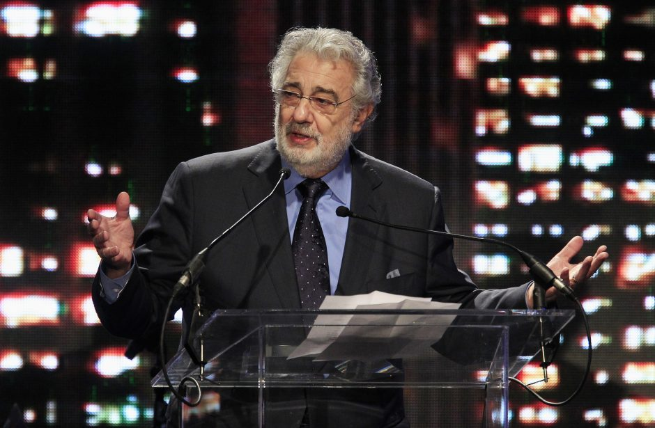 Koncertus dėl sveikatos atšaukęs Ispanijos tenoras P. Domingo sveiksta