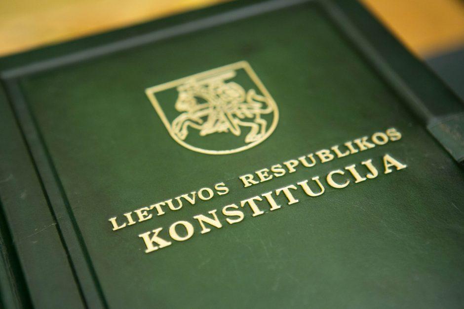 Ministerija nepritaria siūlymui Konstitucijos dieną skelbti šventine