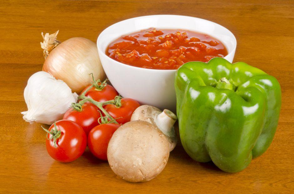 Pomidorinės su lęšiais receptas