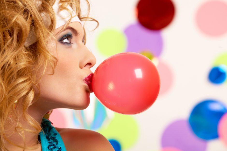 Kramtomoji guma padeda lieknėti