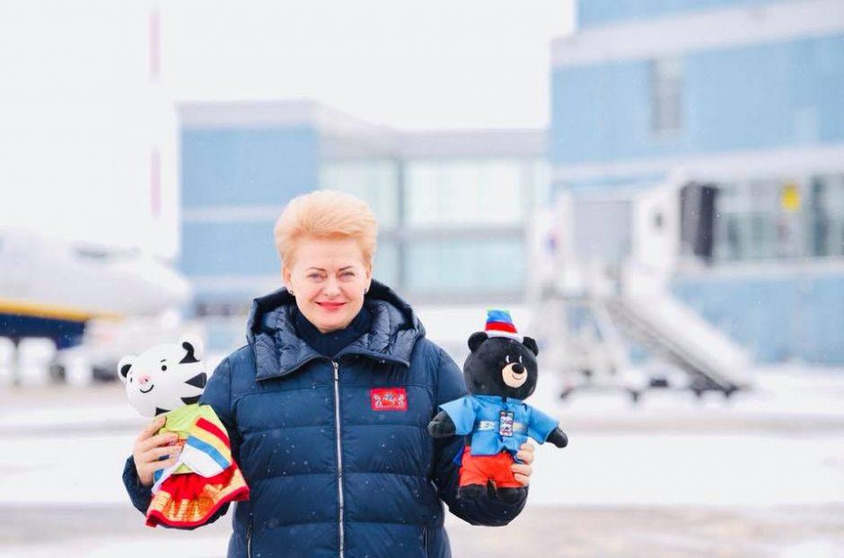 Prezidentė stebėjo Pjongčango olimpinių žaidynių atidarymą