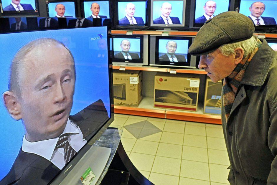 Aiškinasi, kiek rusiškos produkcijos transliuojama Lietuvos televizijose