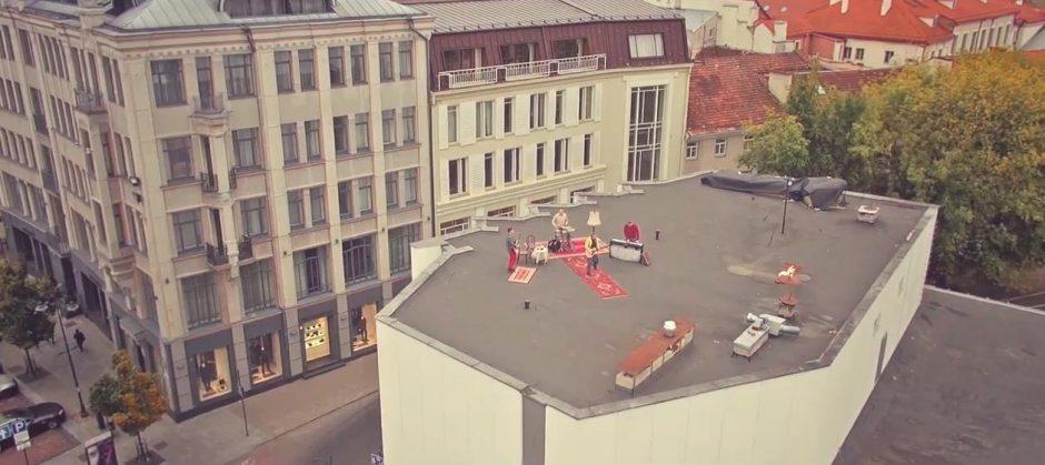 """""""Biplan"""" vaizdo klipe – Vilnius iš paukščio skrydžio"""