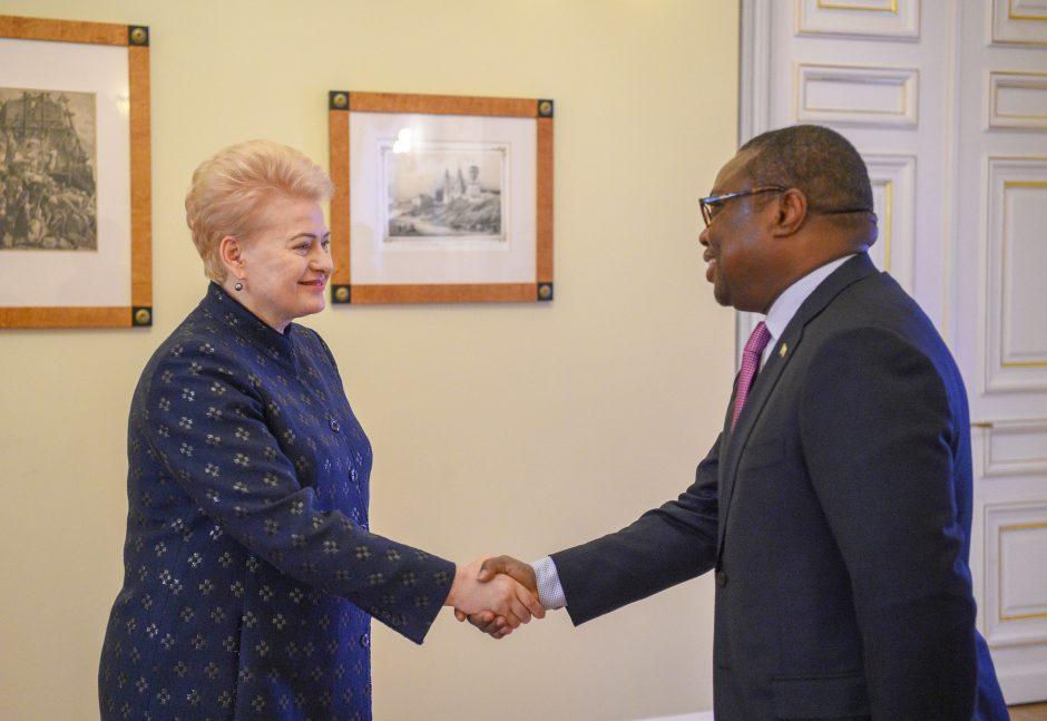 Prezidentė susitiko su ambasadoriais
