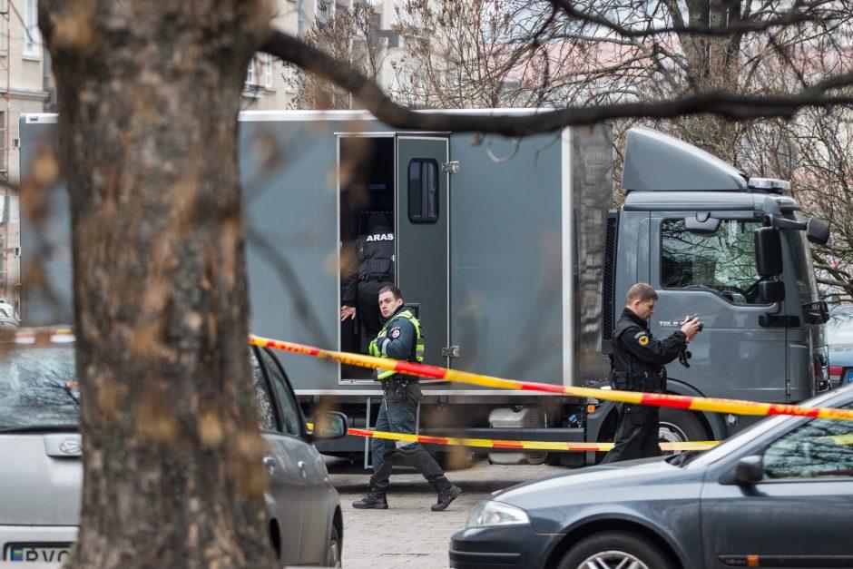 Po pranešimo apie sprogmenį evakuota parduotuvė Vilniuje