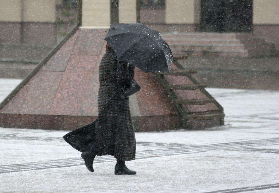Ketvirtadienis Vilniuje numatomas lietingas ir vėjuotas