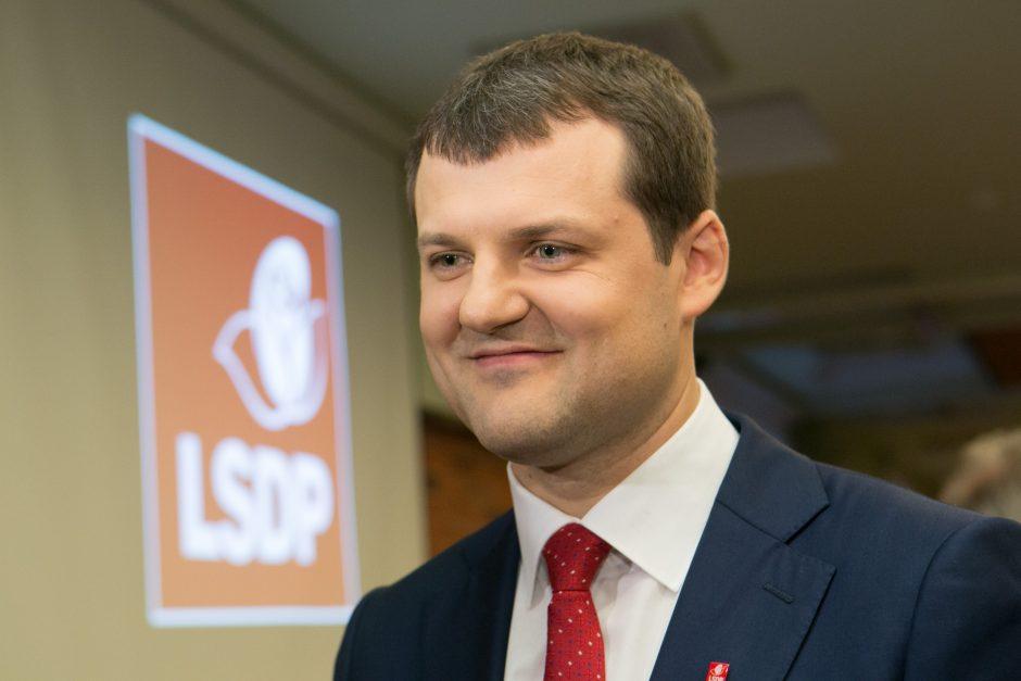 Vilniaus socialdemokratams vadovaus G. Paluckas
