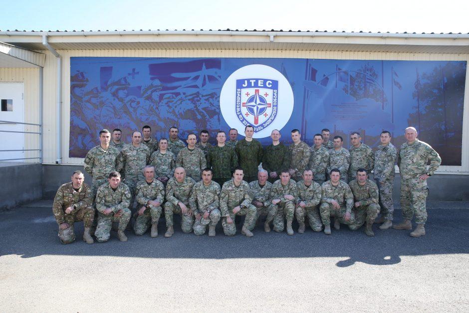 Lietuvos kariuomenės instruktoriai mokė Gruzijos karius