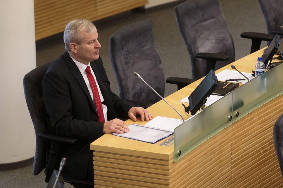 M. Bastys išsaugojo Seimo nario mandatą