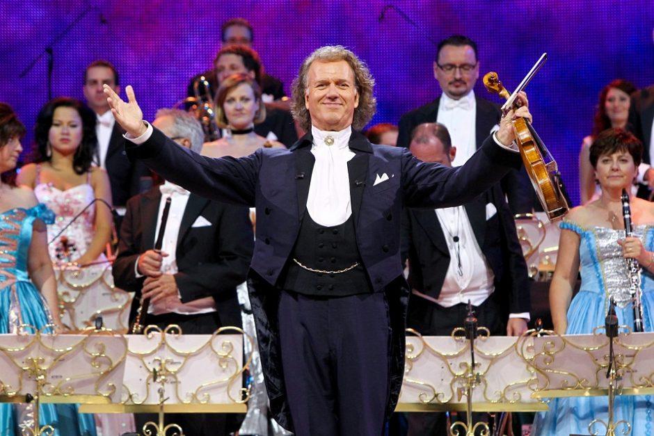Vilniuje pirmą kartą didžiulį šou surengs valsų karalius André Rieu