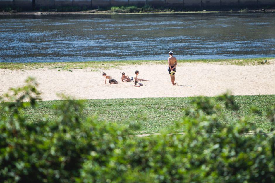 Karščiausia metų diena kauniečiams nepasirodė per karšta