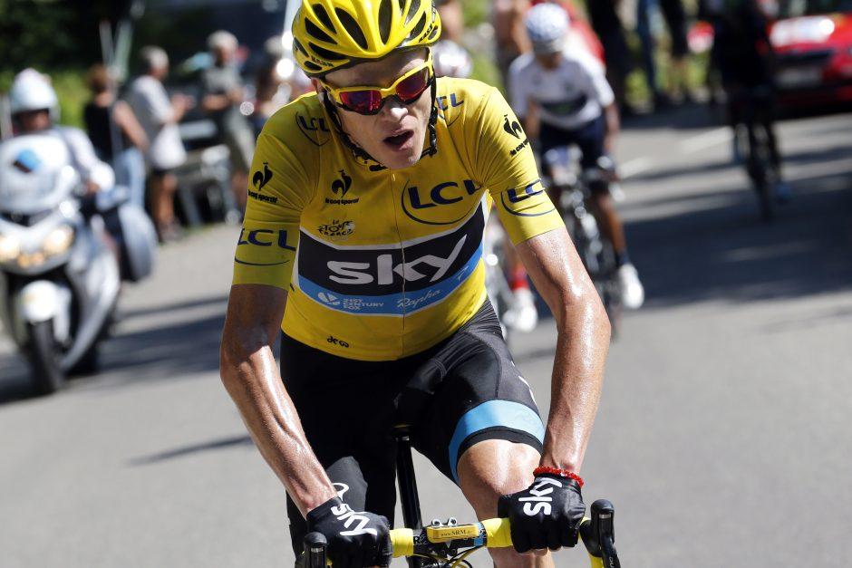 """Ch. Froomeas – be penkių minučių """"Tour de France"""" čempionas"""